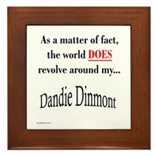 Dandie World Framed Tile