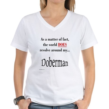 Dobie World Women's V-Neck T-Shirt