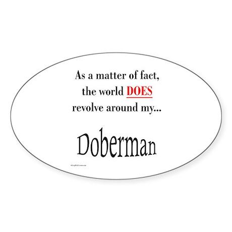 Dobie World Oval Sticker