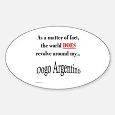 Dogo World Oval Decal