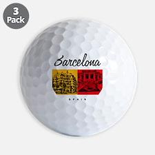 Barcelona_7x7_Bag_CasaMila_ParcGuell Golf Ball