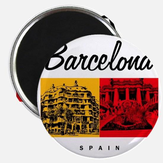 Barcelona_7x7_Bag_CasaMila_ParcGuell Magnet