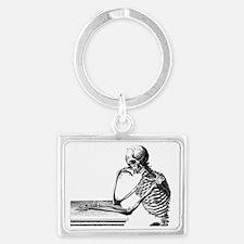 Skeleton Thinker Landscape Keychain