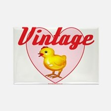 vintage chick  big Rectangle Magnet