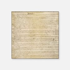 "ConstitutionFULL Square Sticker 3"" x 3"""