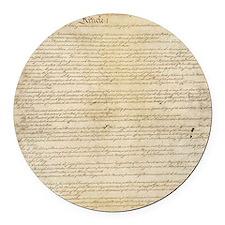 ConstitutionFULL Round Car Magnet