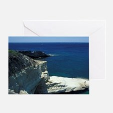 White sandstone rock fingers and vie Greeting Card