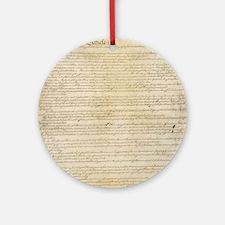 ConstitutionFULL Round Ornament