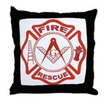 Masonic Fire and Rescue Throw Pillow