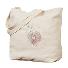 Insanity wolf rainbow splatter Tote Bag