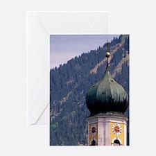 Germany, Bavaria, Oberammergau. Greeting Card