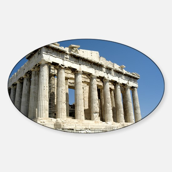 Parthenon Oval Decal