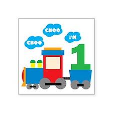 """Train1 Square Sticker 3"""" x 3"""""""