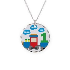 Train1 Necklace Circle Charm