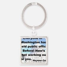 EVERYONE IN WASHINGTON HAS HELD PU Square Keychain