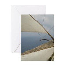Olymbos: the sails of the sole worki Greeting Card