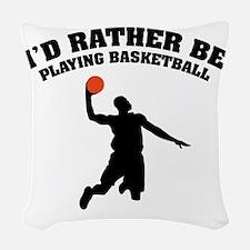 ratherbeBasketA3 Woven Throw Pillow