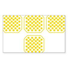 Tron Dots Yellow Bumper Stickers