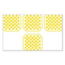 Tron Dots Yellow Decal