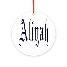 aliyah Round Ornament
