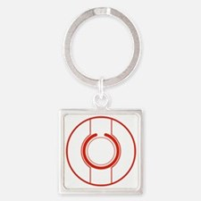 Tron Disc Red Square Keychain