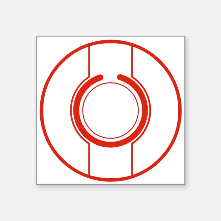 "Tron Disc Red Square Sticker 3"" x 3"""