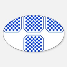 Tron Dots Blue Decal
