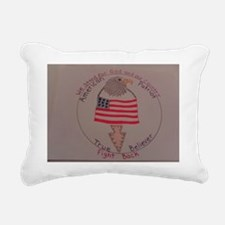 American Patriot Rectangular Canvas Pillow
