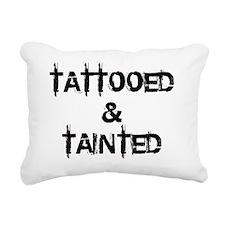 Tattooed  Tainted Rectangular Canvas Pillow