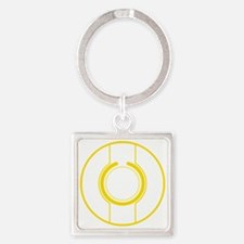Tron Disc Yellow Square Keychain