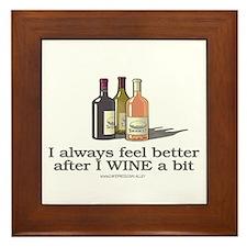 Wine A Bit Framed Tile