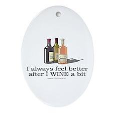 Wine A Bit Oval Ornament