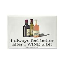 Wine A Bit Rectangle Magnet