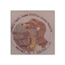 "Jimbos  Canes Square Sticker 3"" x 3"""