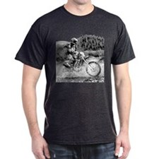 Mountain Trail Riding BW T-Shirt