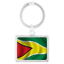guyana_flag Landscape Keychain