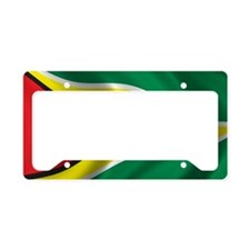 guyana_flag License Plate Holder