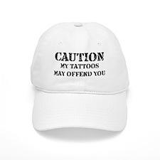Caution Tattoos Baseball Cap