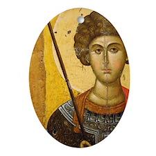 Byzantine Art. Greece. icon with Sai Oval Ornament