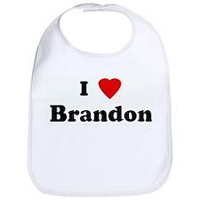 I Love Brandon Bib