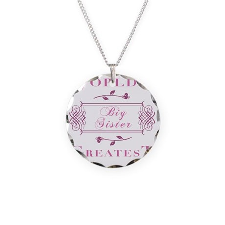 FramedBigSister Necklace Circle Charm