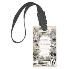 Antique Book South Pole Voyage Luggage Tag