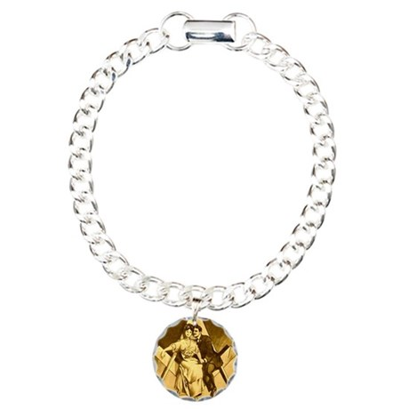 Freemason Love on the Sq Charm Bracelet, One Charm