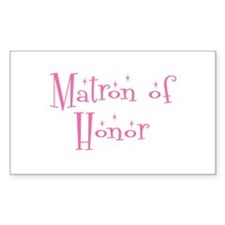 Matron of Honor Rectangle Decal