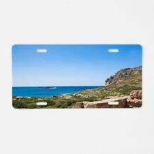 West Crete. Minoan Ruins of Aluminum License Plate
