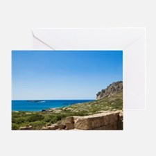 West Crete. Minoan Ruins of Ancient  Greeting Card