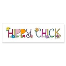 Hippy Chick Bumper Car Car Sticker