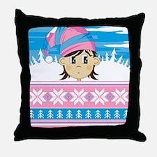 Stripe Pad5 Throw Pillow