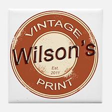 Wilsons Vintage Print.gif Tile Coaster