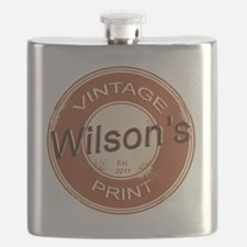 Wilsons Vintage Print.gif Flask